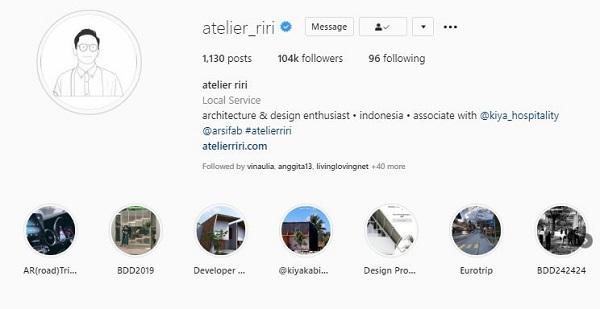 instagram atelier riri arsitek rumah minimalis