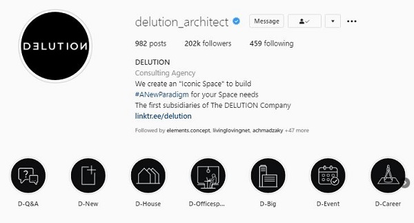 instagram arsitek rumah minimalis delution architect
