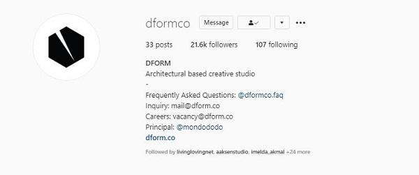 instagram dform arsitek rumah minimalis